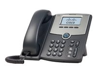Cisco Small Business SPA 502G - VoIP-telefon - SIP, SIP v2, SPCP - enkeltlinje - sølv, mørk grå - for Small Business Pro Unified Communications 320 with 4 FXO SPA502G