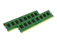 Kingston ValueRAM - DDR3 - 8 GB: 2 x 4 GB - DIMM 240-pin - 1333 MHz / PC3-10600 - CL9 - 1.5 V - ikke-bufret - ikke-ECC KVR13N9S8HK2/8