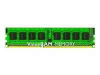 Kingston ValueRAM - DDR3 - 4 GB - DIMM 240-pin - 1333 MHz / PC3-10600 - CL9 - 1.5 V - ikke-bufret - ikke-ECC KVR13N9S8/4