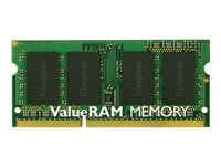 Kingston ValueRAM - DDR3 - 8 GB - SO DIMM 204-pin - 1333 MHz / PC3-10600 - CL9 - 1.5 V - ikke-bufret - ikke-ECC KVR1333D3S9/8G